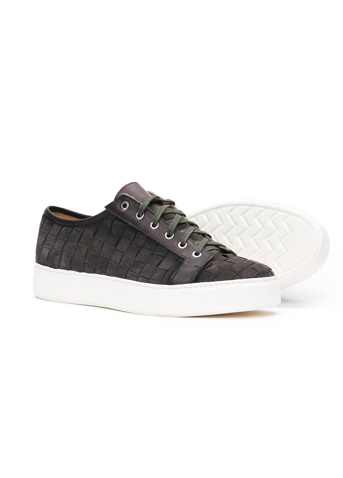 Zapato Sport Wear color gris, 100% Serraje. - Ítem1