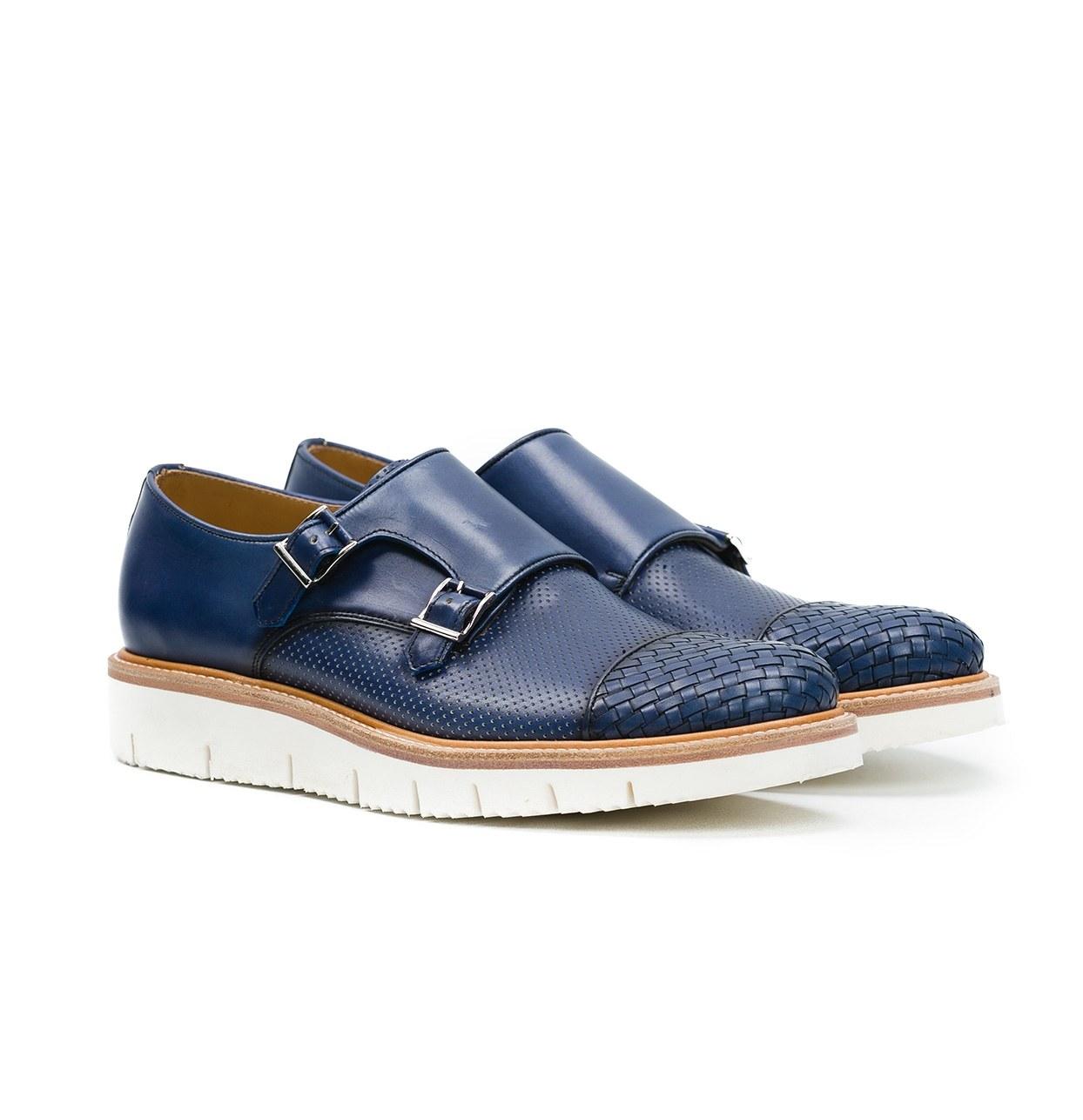 Calzado Sport Wear color azul, 100% Piel.