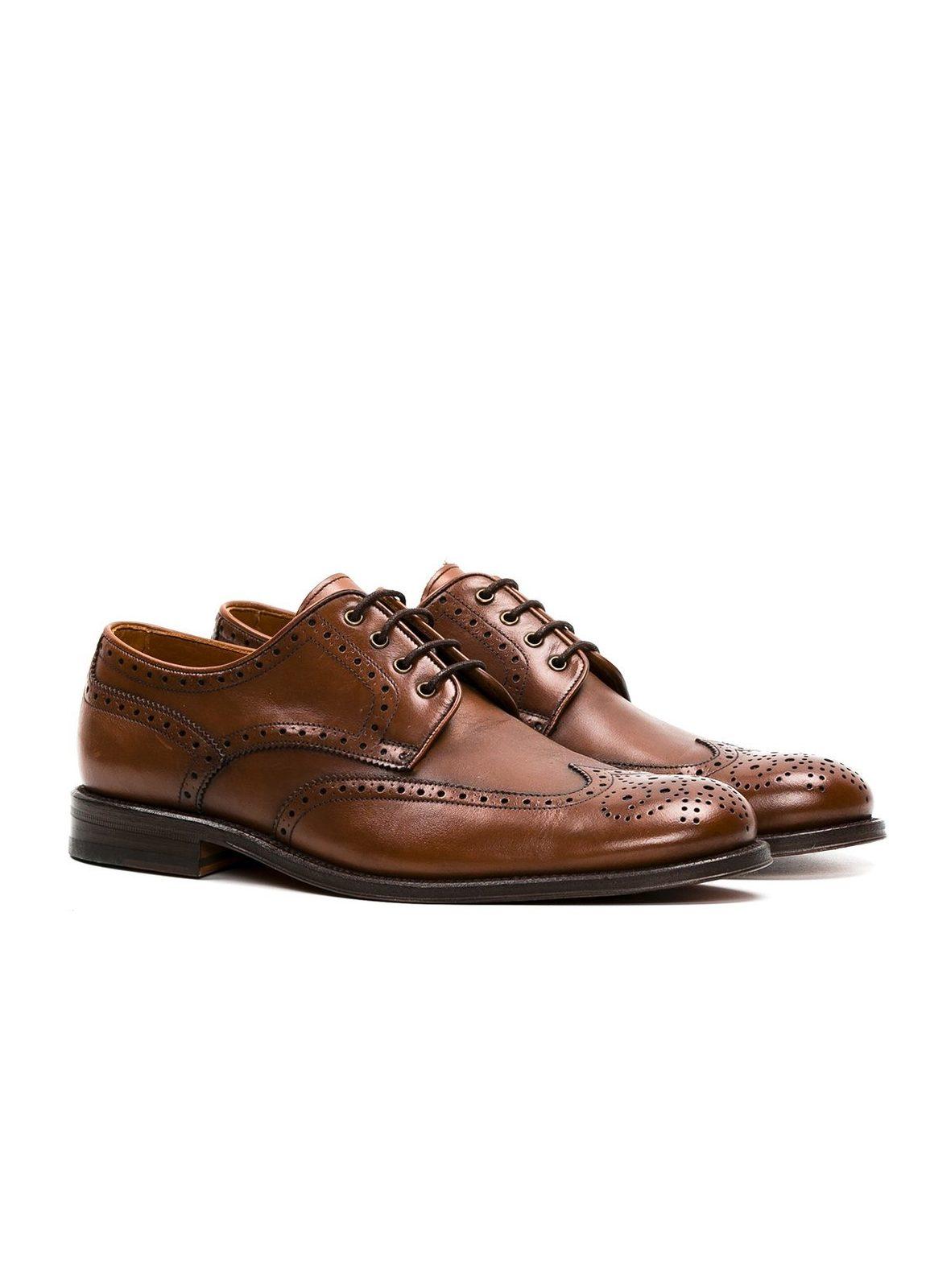 Zapato Formal Wear color marrón con detalles troquelados, 100% Piel. - Ítem3