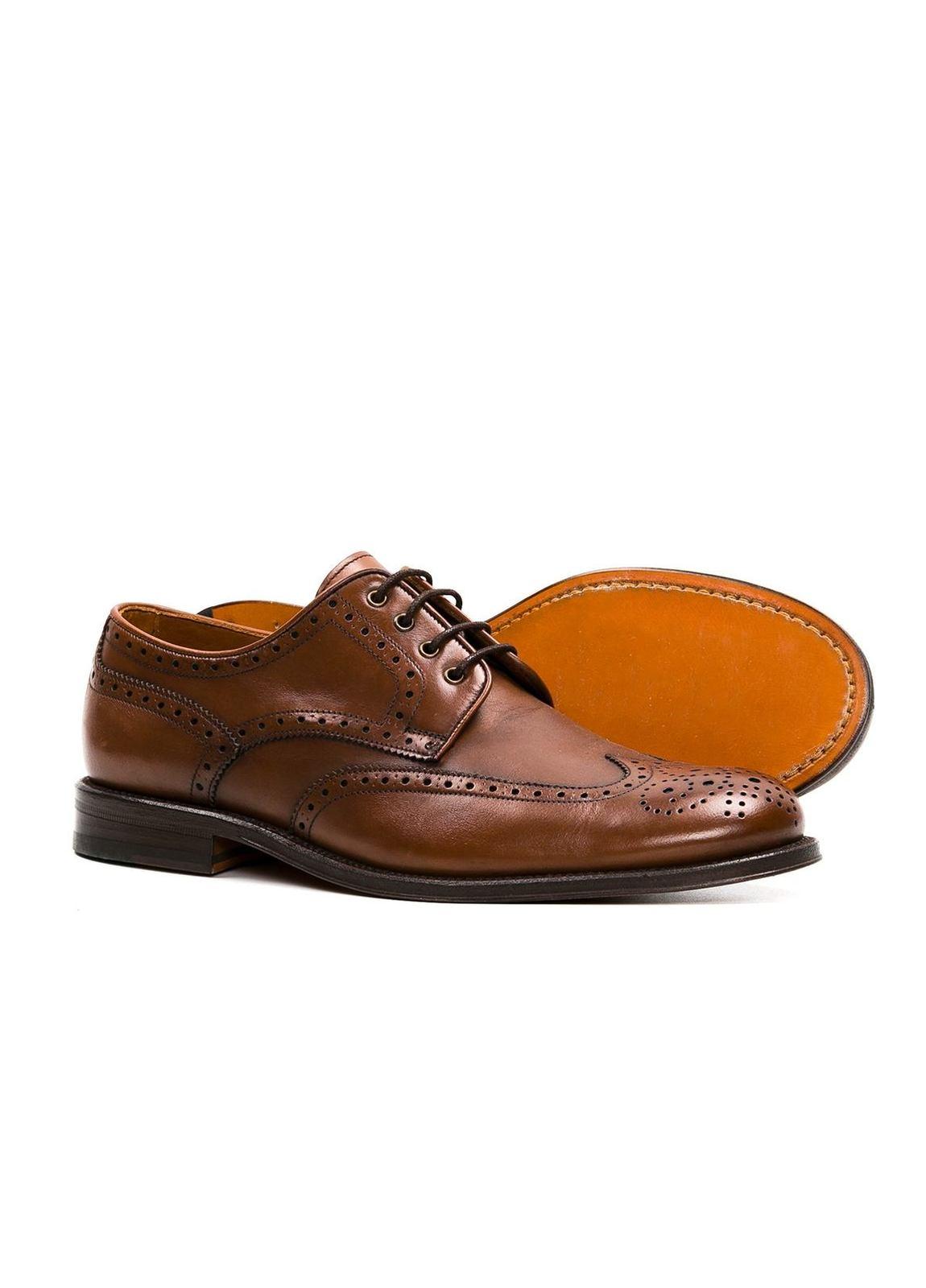 Zapato Formal Wear color marrón con detalles troquelados, 100% Piel. - Ítem2