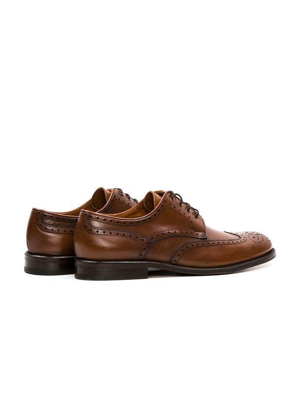 Zapato Formal Wear color marrón con detalles troquelados, 100% Piel. - Ítem1