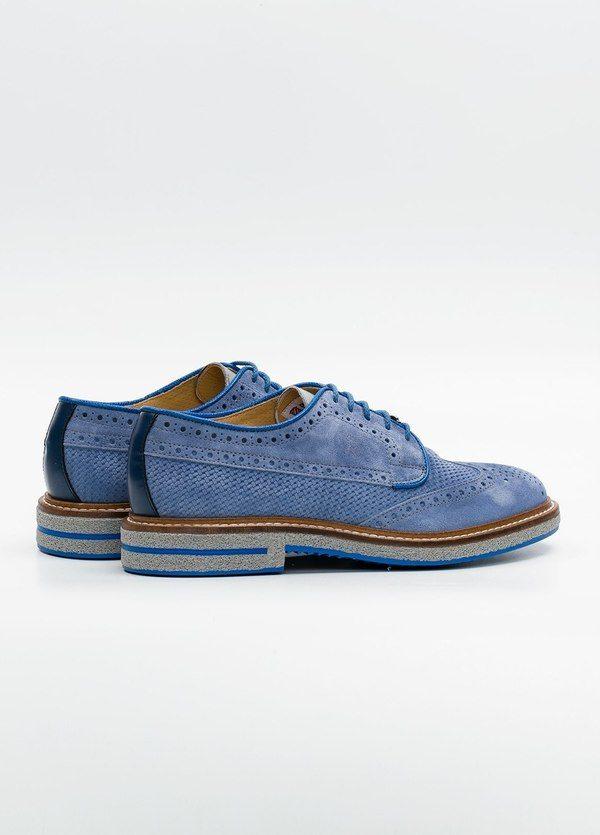 Zapato Formal Wear color azul suela gris, 100% Ante. - Ítem2
