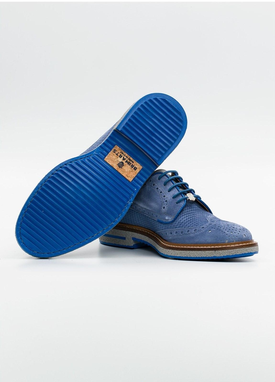 Zapato Formal Wear color azul suela gris, 100% Ante. - Ítem1