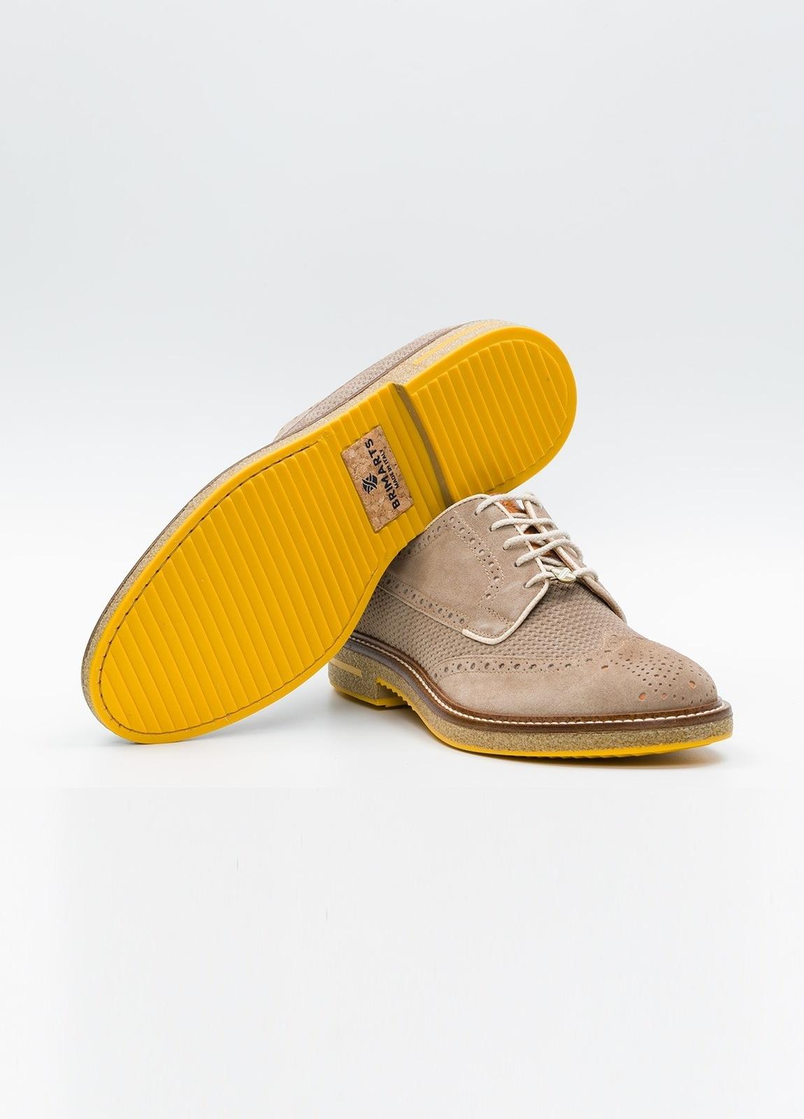 Zapato Formal Wear color beige suela amarilla, 100% Ante. - Ítem2