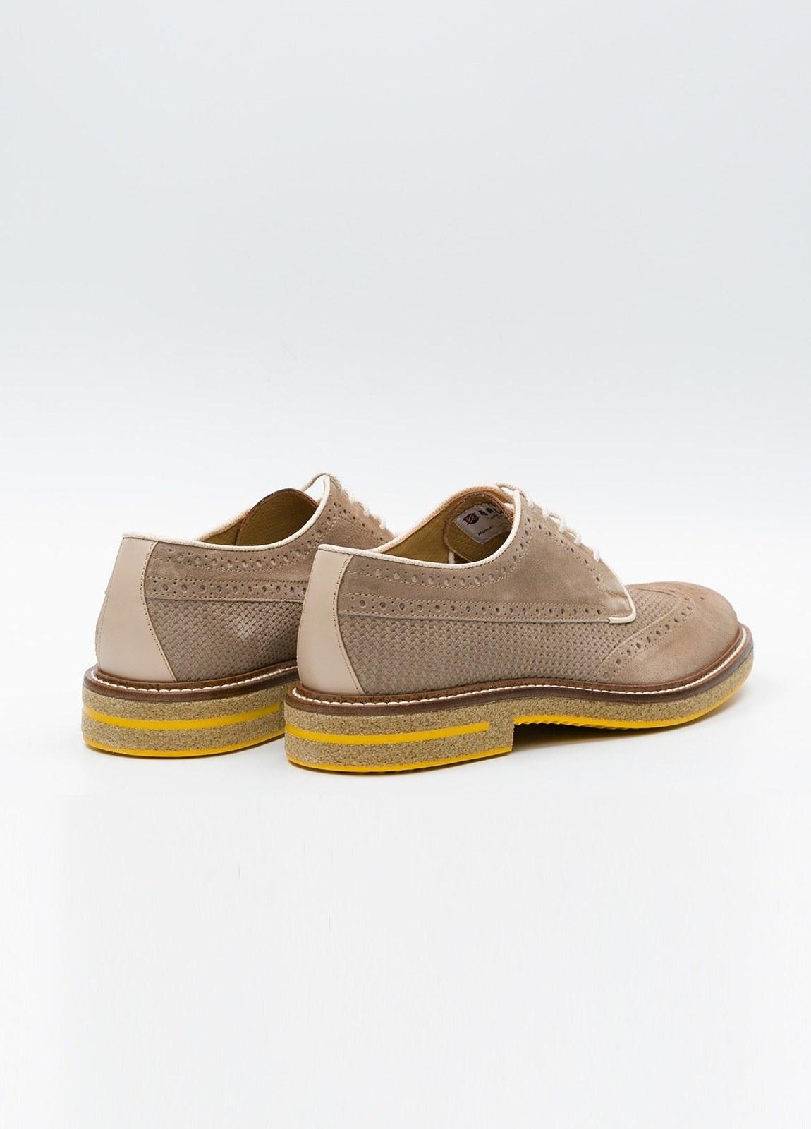 Zapato Formal Wear color beige suela amarilla, 100% Ante. - Ítem1