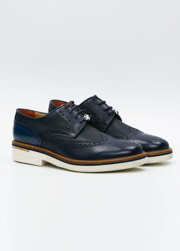 Zapato Formal Wear color azul marino suela blanca, 100% Piel. - Ítem3