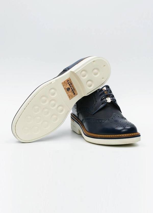 Zapato Formal Wear color azul marino suela blanca, 100% Piel. - Ítem2