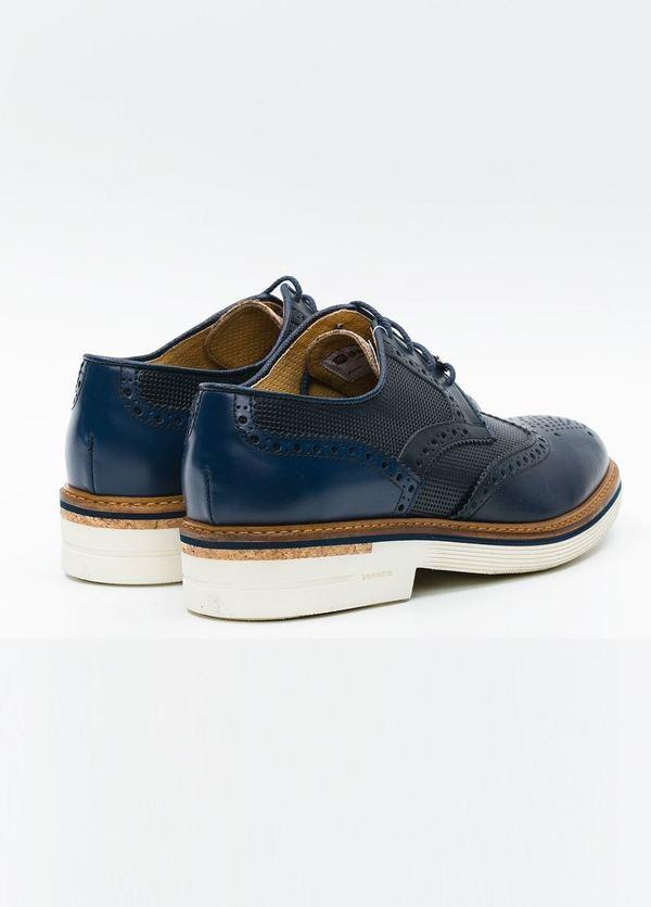 Zapato Formal Wear color azul marino suela blanca, 100% Piel. - Ítem1