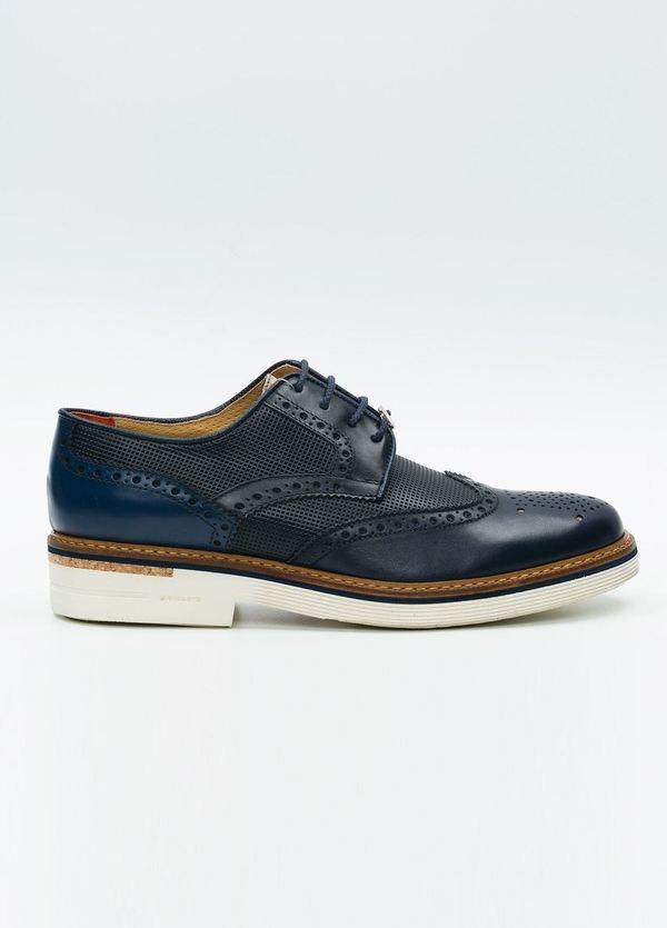 Zapato Formal Wear color azul marino suela blanca, 100% Piel.