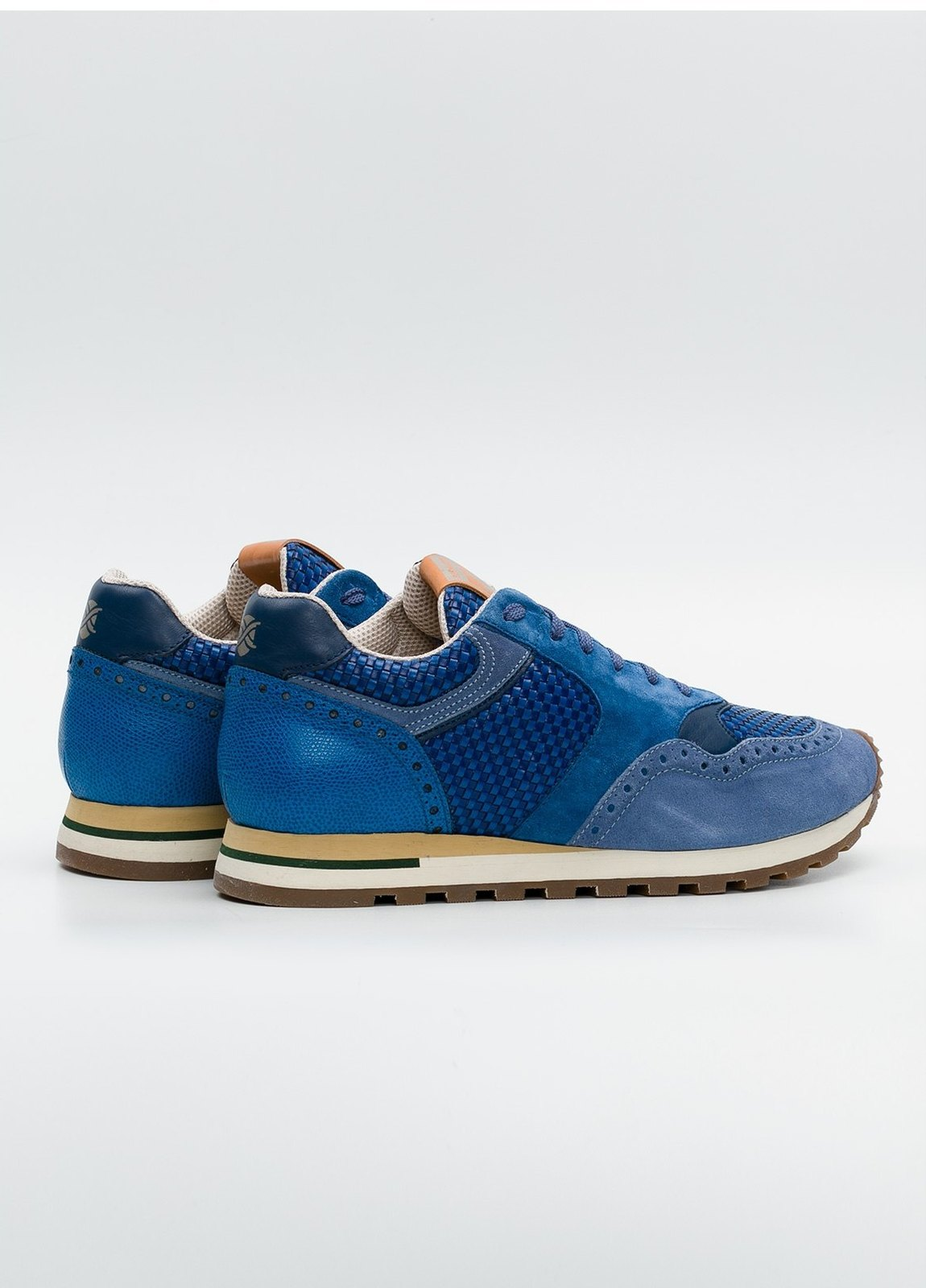 Calzado Sport color azul, serraje y piel. - Ítem3