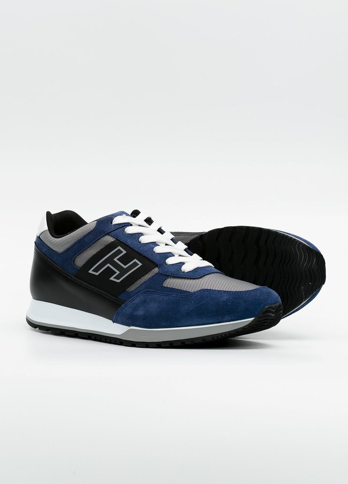 Calzado sport OLYMPIA color azul, combinación de serraje, loneta y apliques en piel. - Ítem2