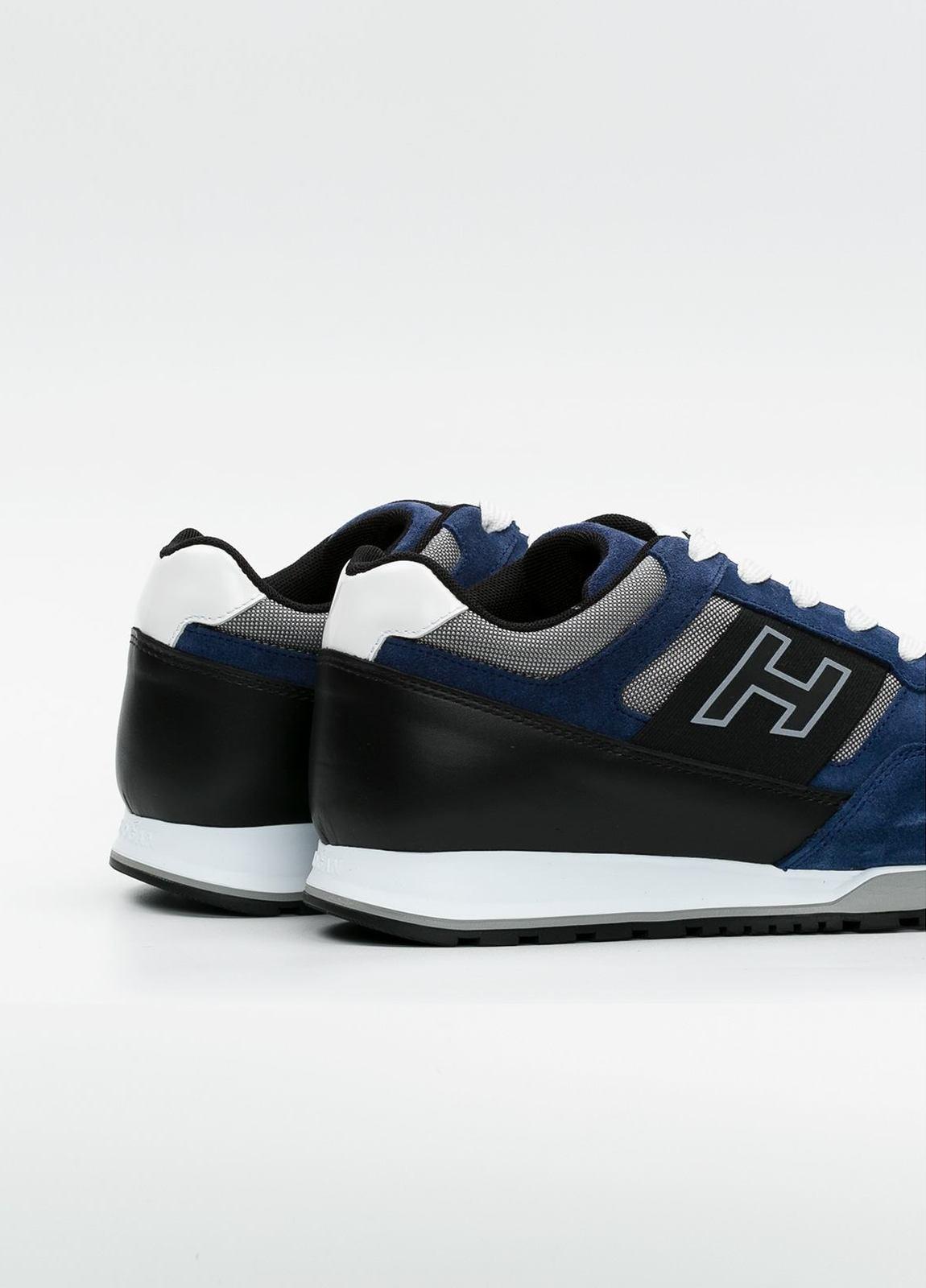 Calzado sport OLYMPIA color azul, combinación de serraje, loneta y apliques en piel. - Ítem3
