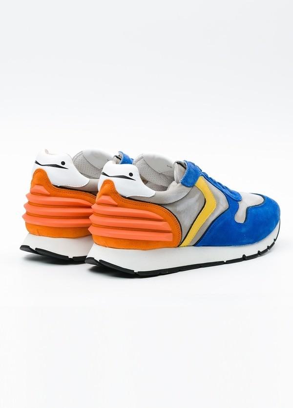 Bambas moda hombre modelo LIAM POWER color azul, detalle naranja. - Ítem3
