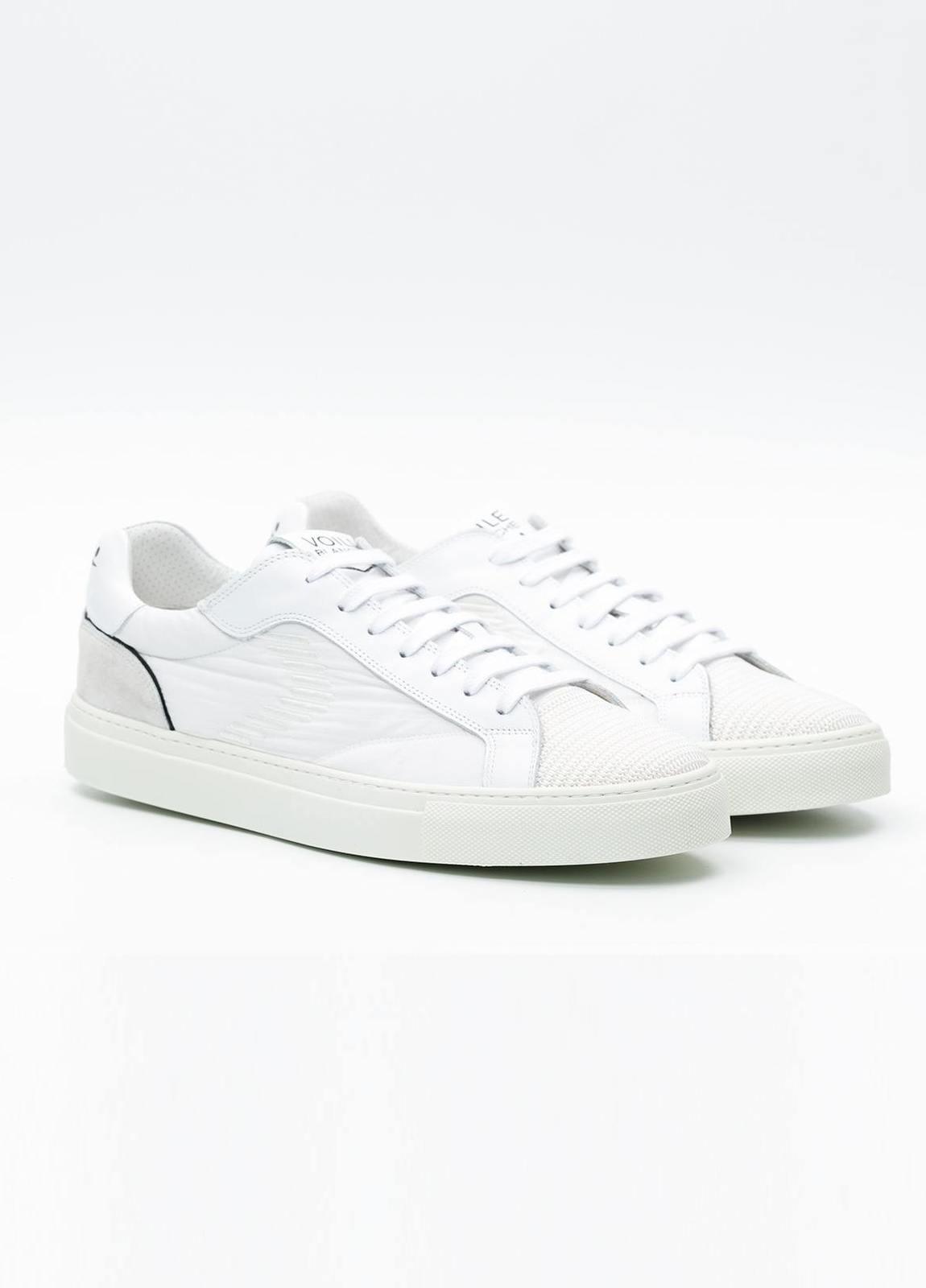 Bambas moda hombre modelo PORTOFINO color blanco, Serraje y tejido técnico. - Ítem3