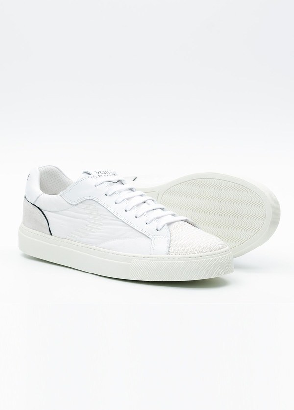 Bambas moda hombre modelo PORTOFINO color blanco, Serraje y tejido técnico. - Ítem2
