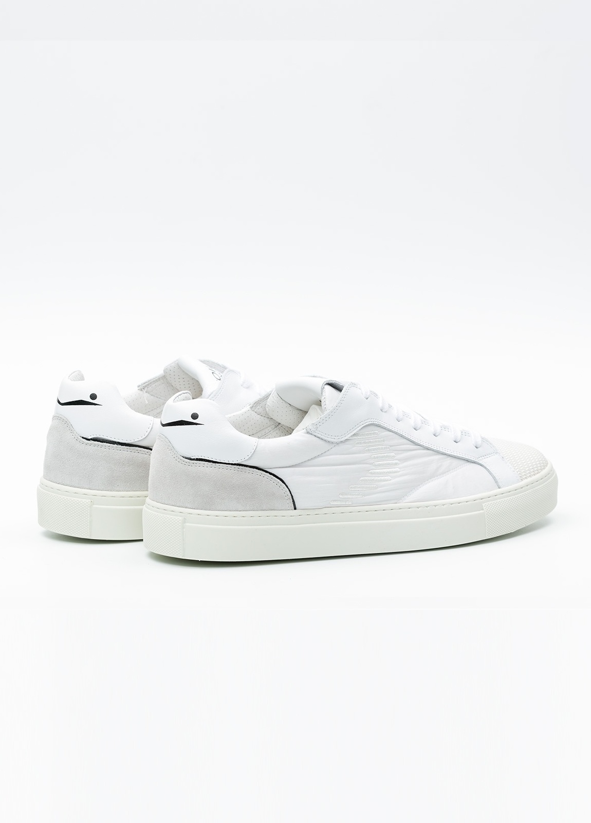 Bambas moda hombre modelo PORTOFINO color blanco, Serraje y tejido técnico. - Ítem1