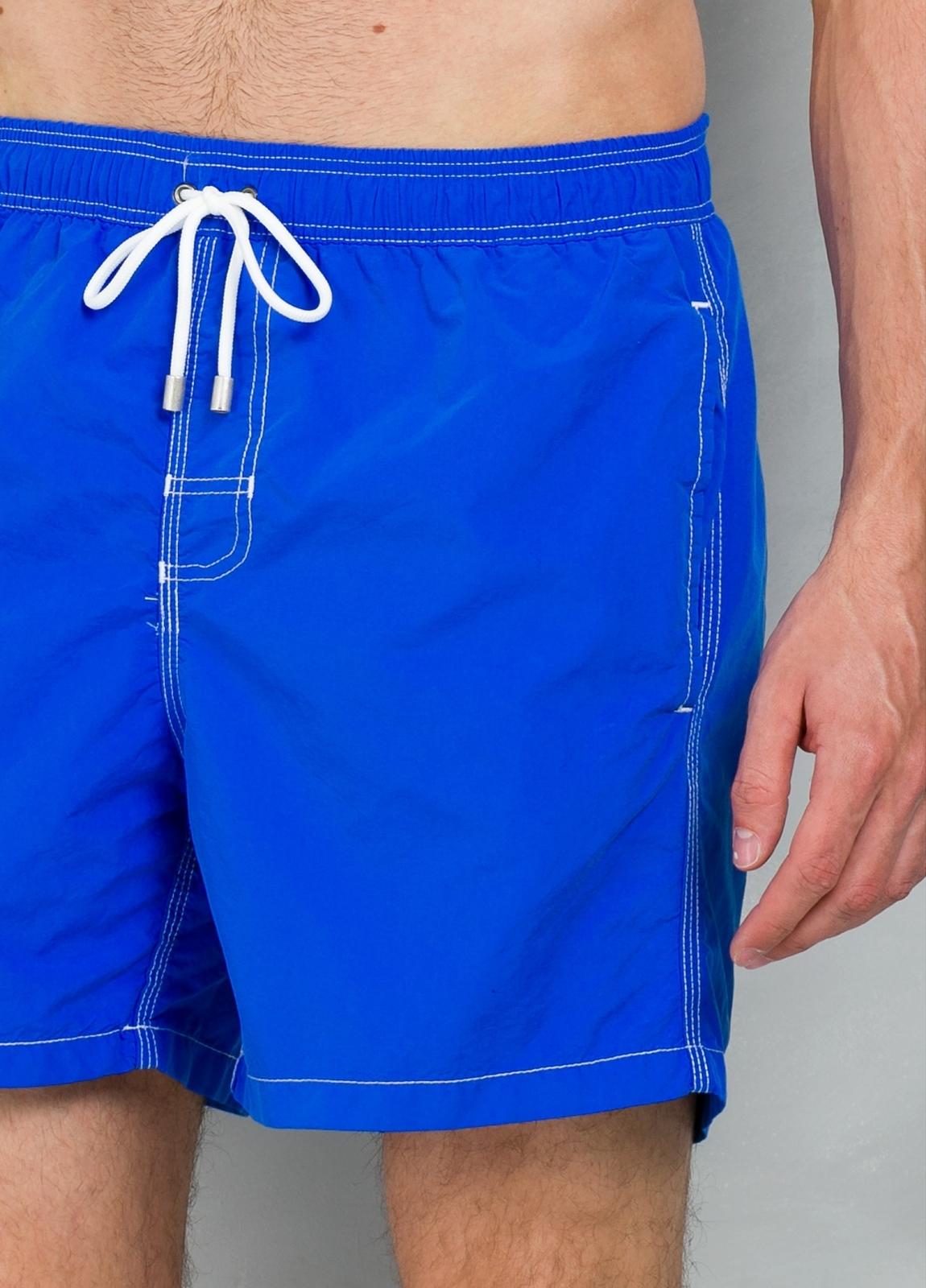 Bañador liso color azul klein, 100% poliamida. - Ítem1