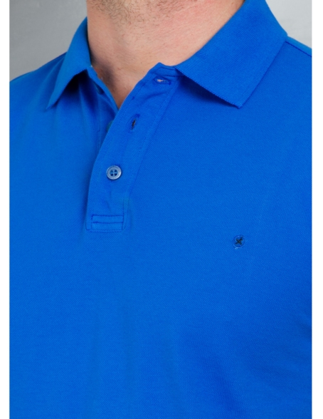 Washed Cotton-Pique Polo Shirt color azul, 100% Algodón. - Ítem2