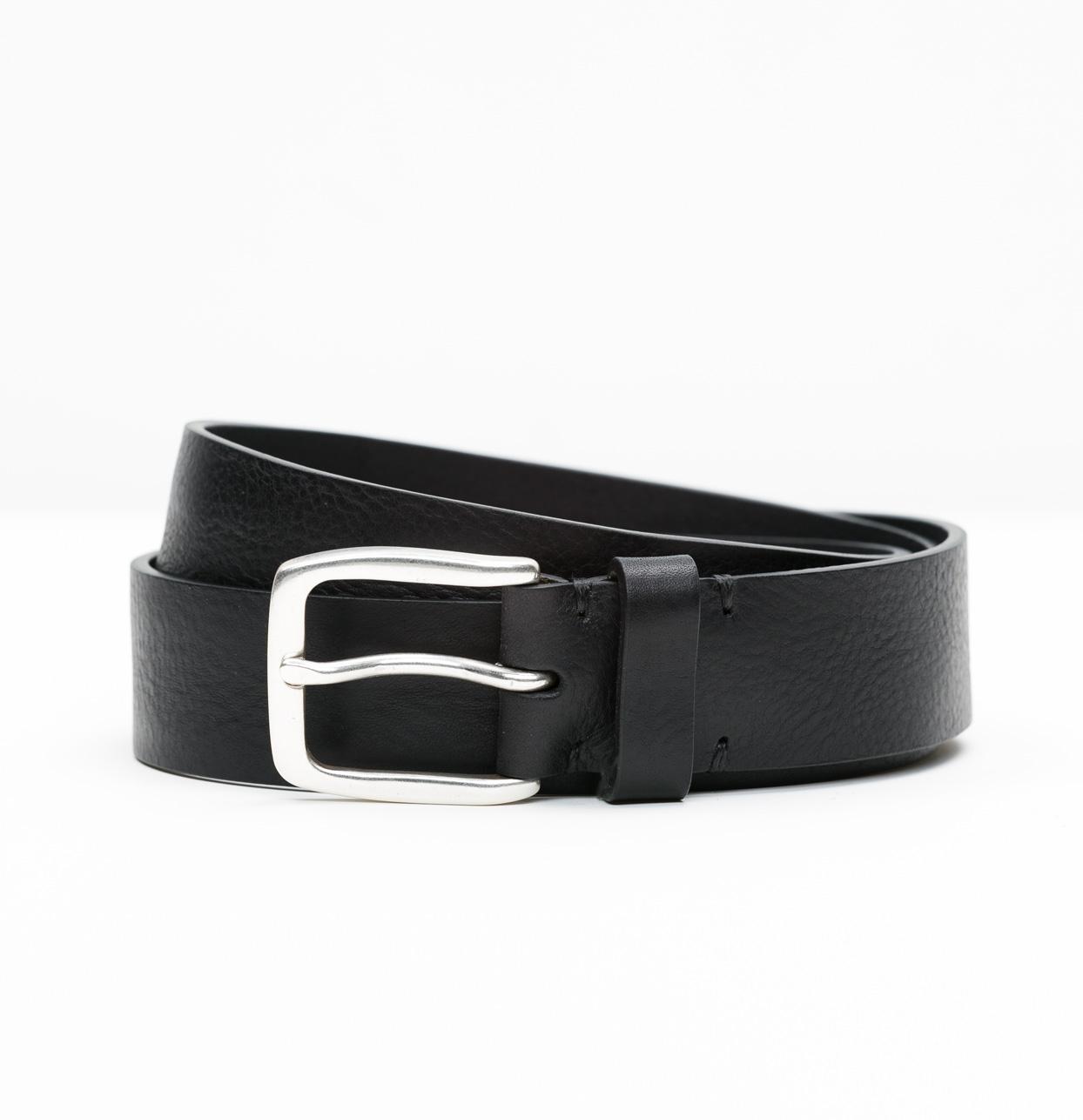 Cinturón Sport piel lisa color negro, 100% piel