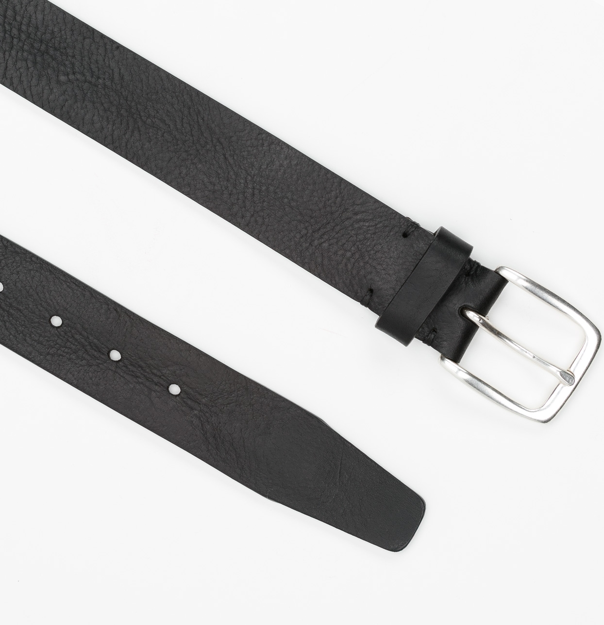 Cinturón Sport piel lisa color negro, 100% piel - Ítem3