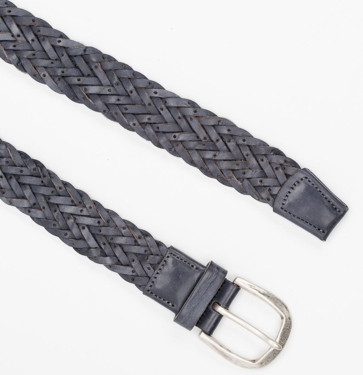 Cinturón Sport piel trenzada color gris, 100% piel. - Ítem1