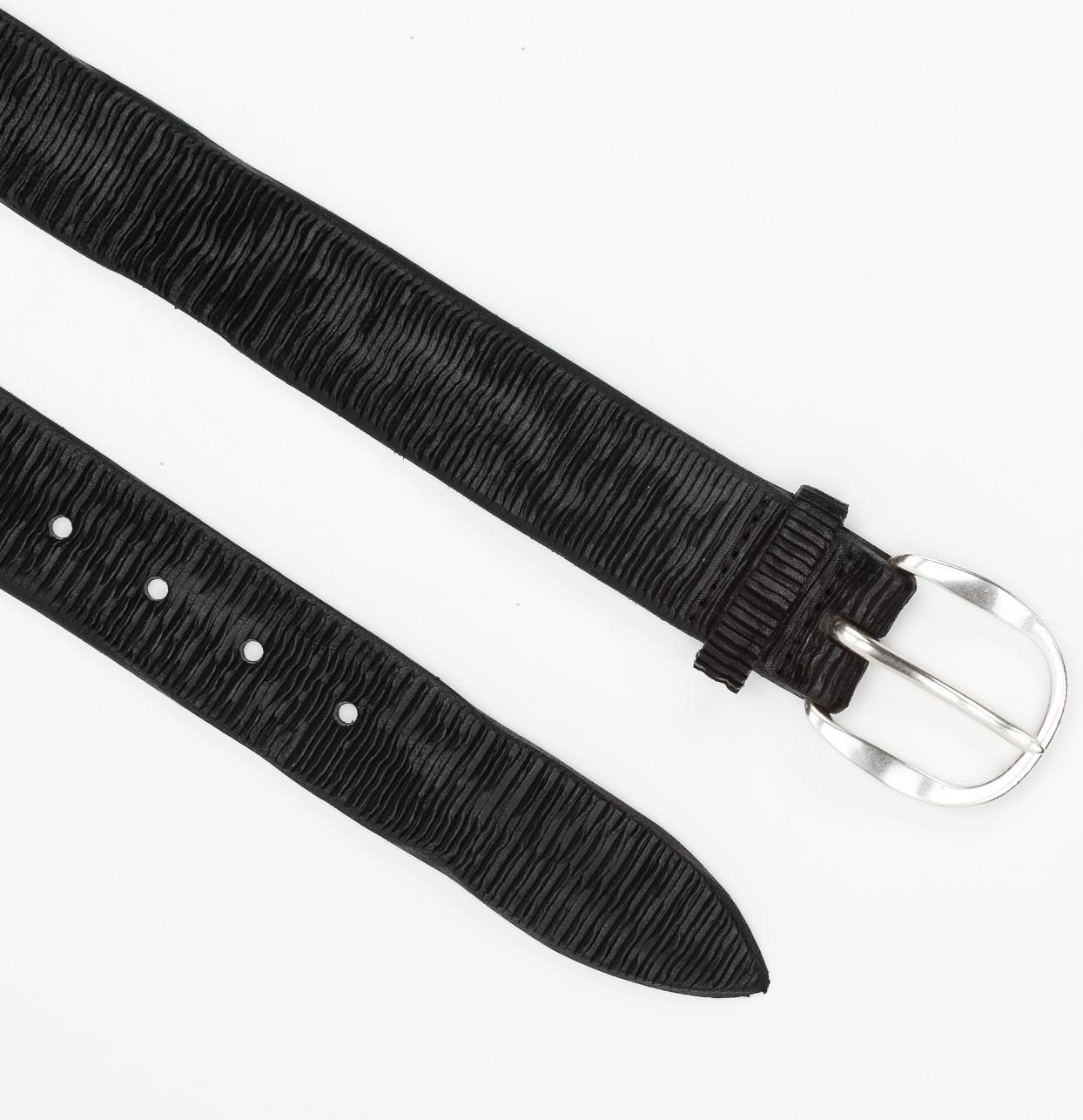 Cinturón Sport piel grabada color negro, 100% Piel. - Ítem1