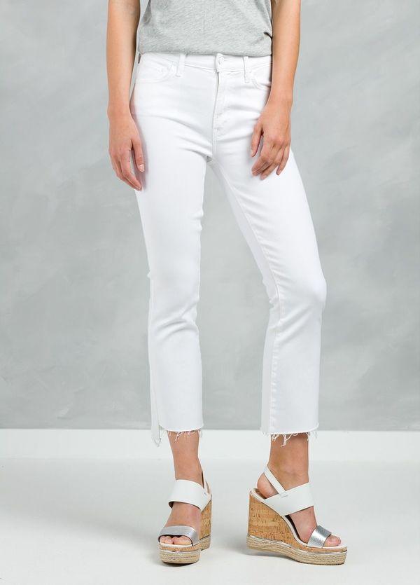 Pantalón tejano woman CROPPED JEANS color blanco.
