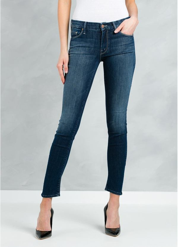 Tejano woman SKINNY color azul denim.