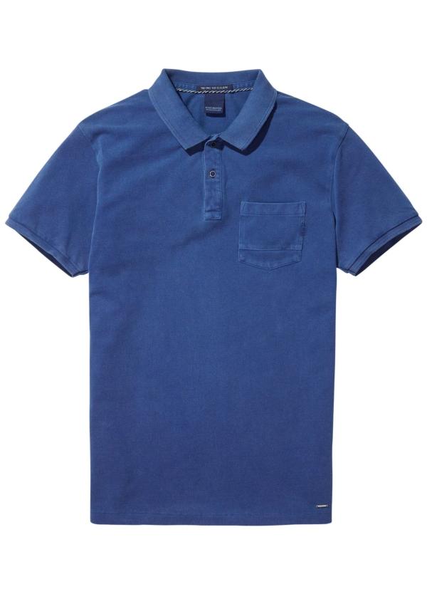 Polo teñido en prenda color azul. 100% Algodón.