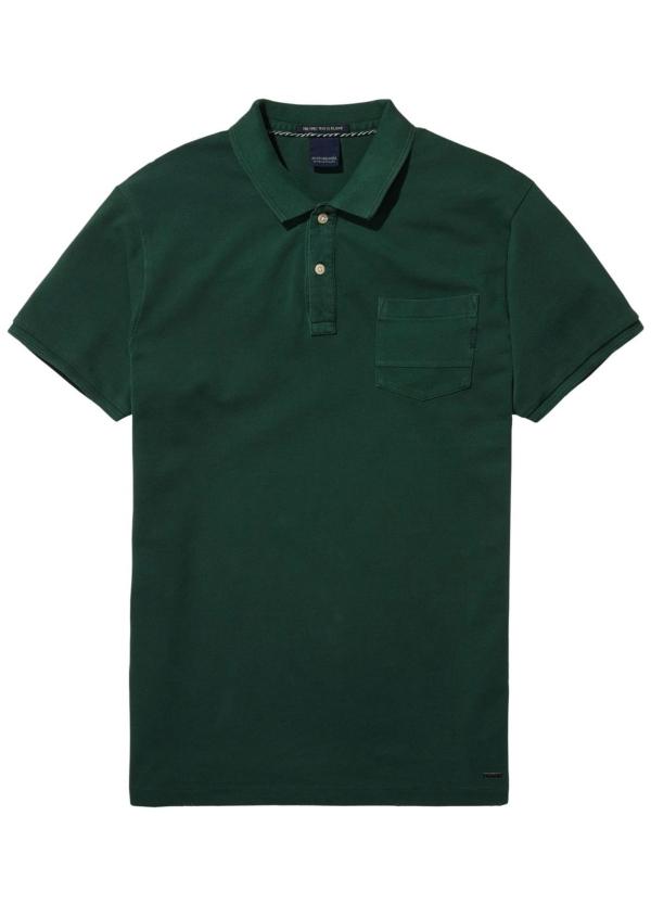 Polo teñido en prenda color verde. 100% Algodón.