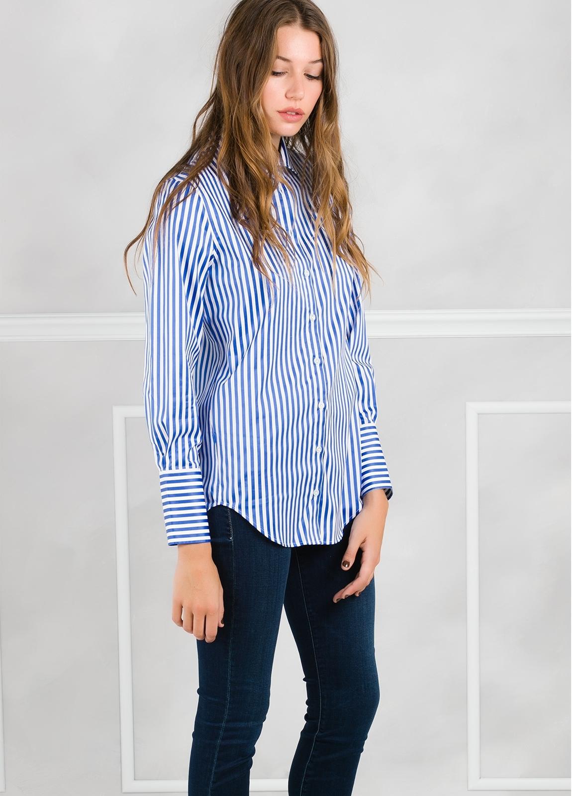 Camisa de rayas modelo ROXI color azul. - Ítem1