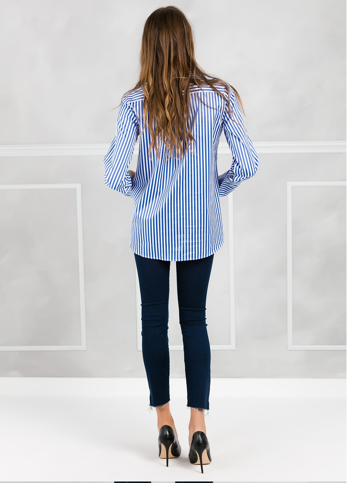 Camisa de rayas modelo ROXI color azul. - Ítem2
