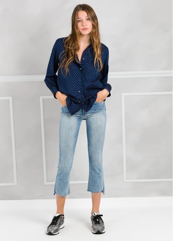 Camisa woman modelo SHEILAJ estampado estrellas color azul tinta. - Ítem2