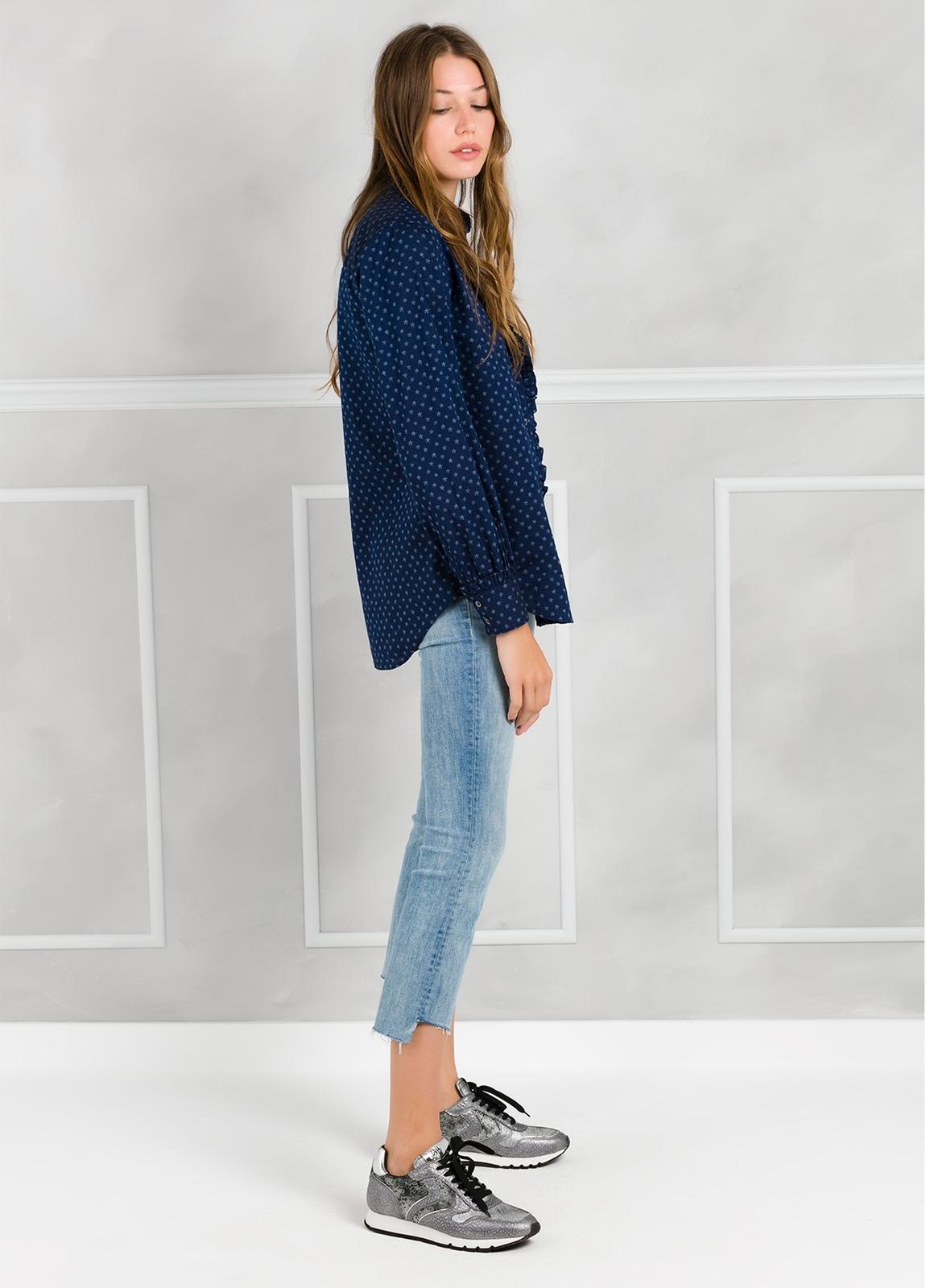 Camisa woman modelo SHEILAJ estampado estrellas color azul tinta. - Ítem3