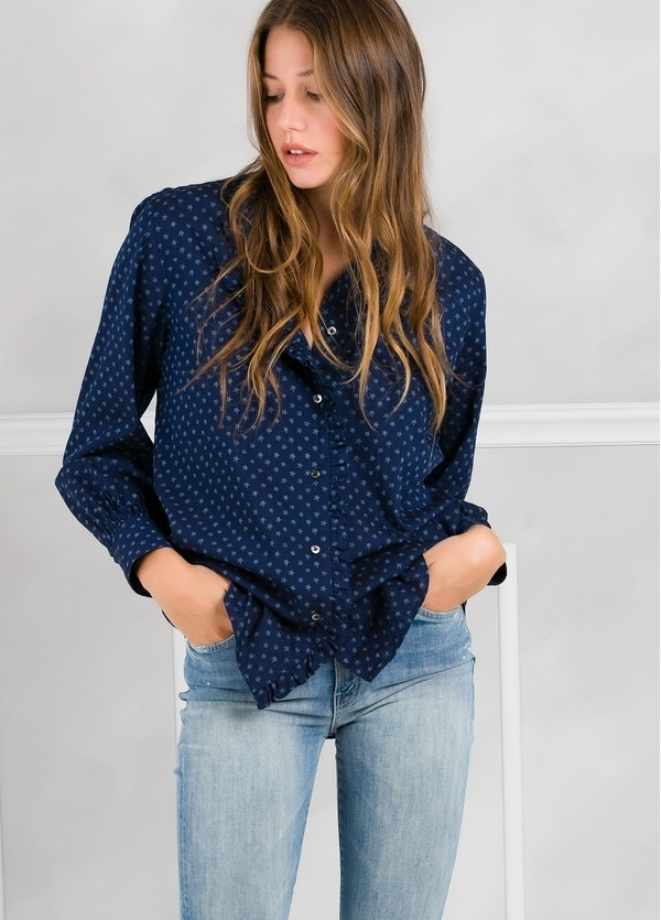 Camisa woman modelo SHEILAJ estampado estrellas color azul tinta. - Ítem1