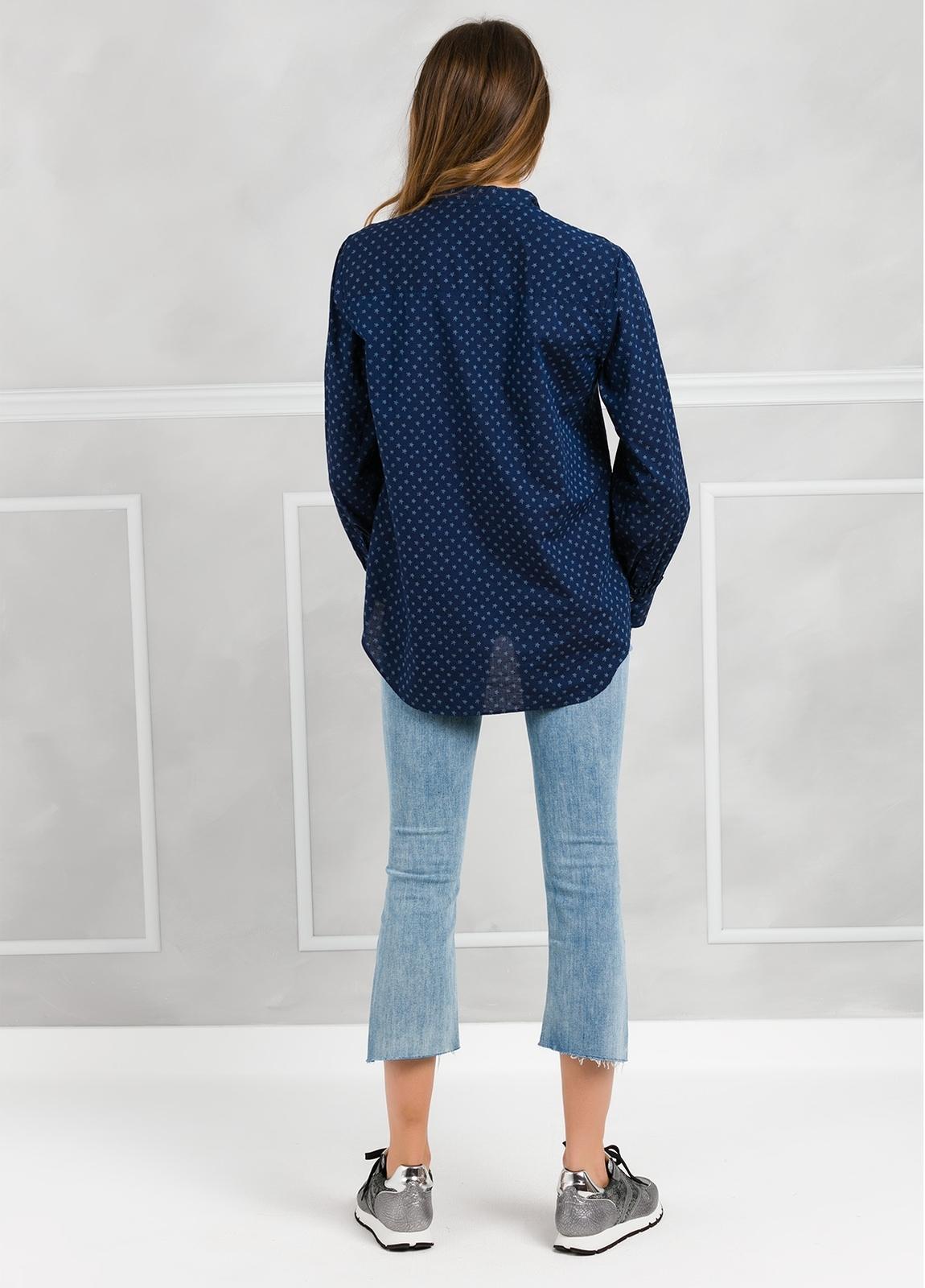 Camisa woman modelo SHEILAJ estampado estrellas color azul tinta. - Ítem4