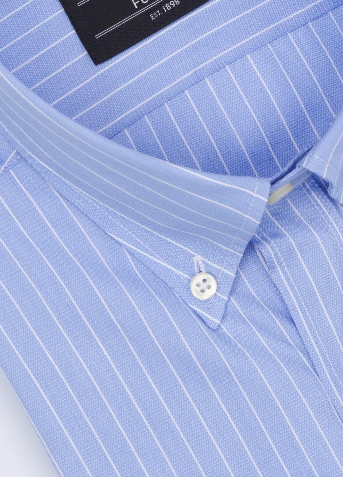 Camisa Formal Wear REGULAR FIT modelo BOTTON DOWN,con bosillo, color azul. 100% Algodón. - Ítem1