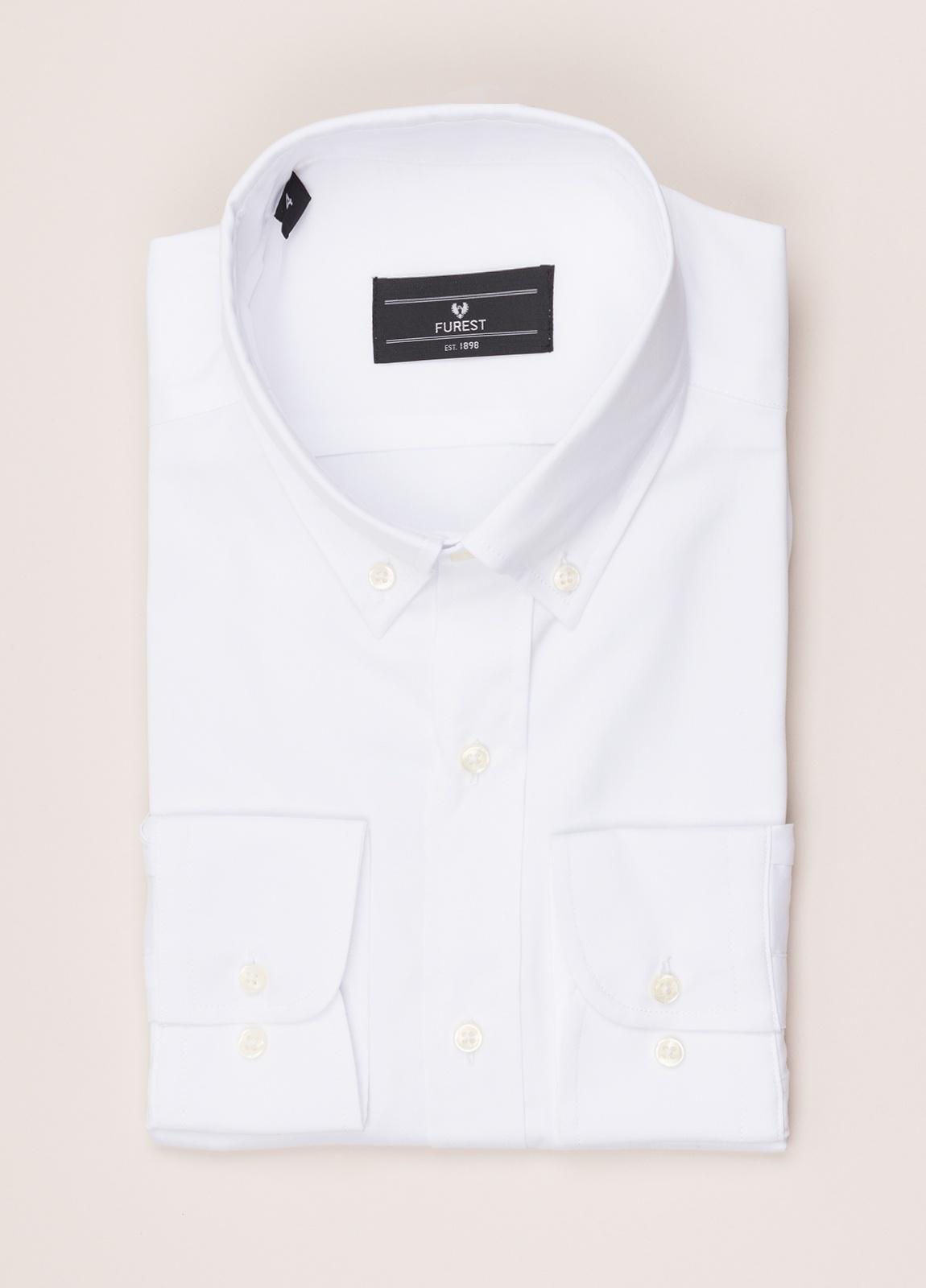 Camisa vestir FUREST COLECCIÓN REGULAR FIT cuello botón pin point blanco