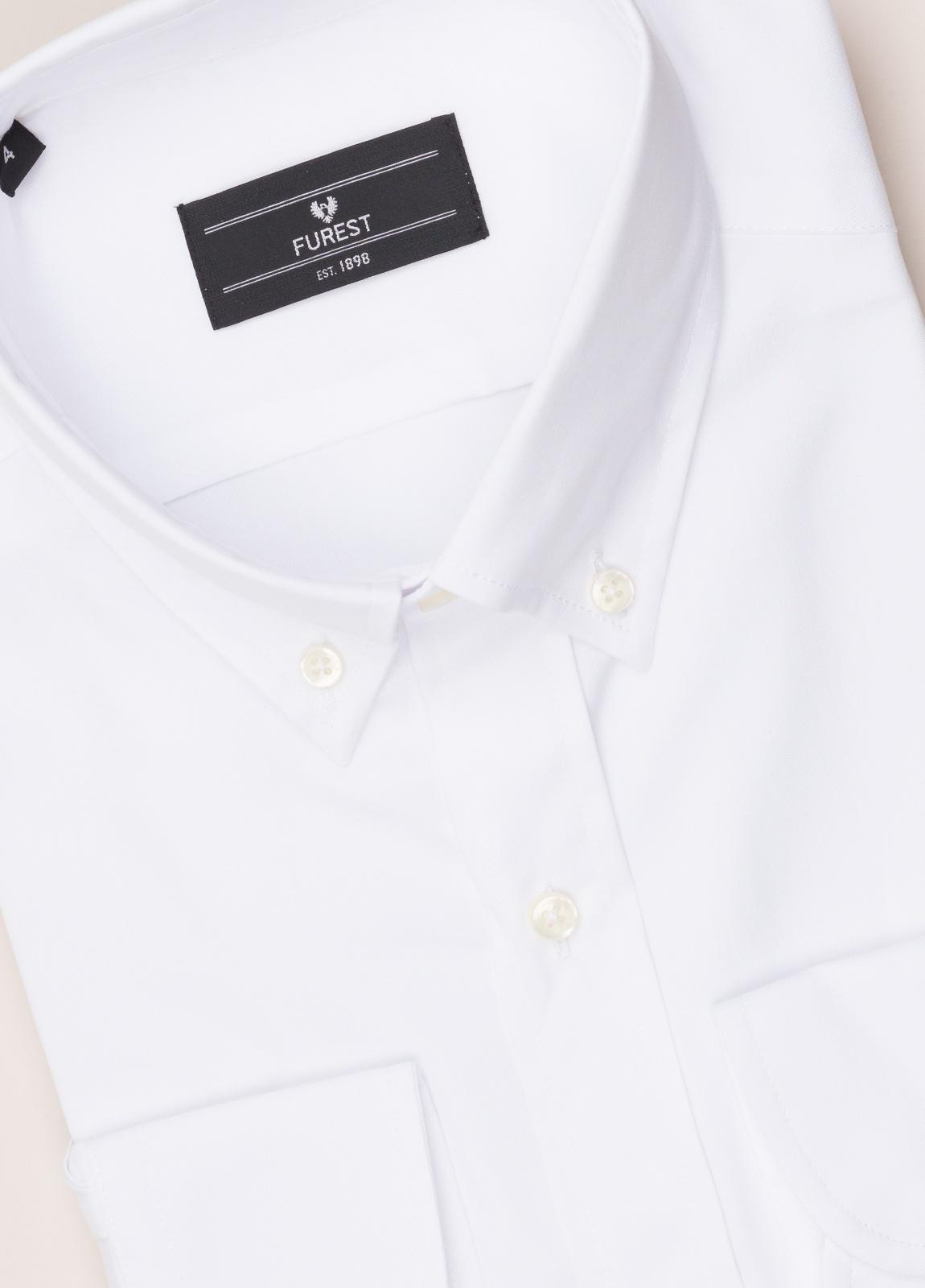 Camisa vestir FUREST COLECCIÓN REGULAR FIT cuello botón pin point blanco - Ítem1