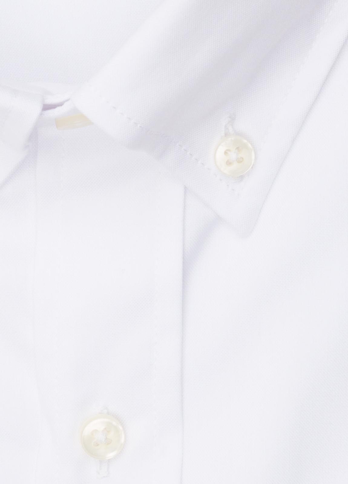 Camisa vestir FUREST COLECCIÓN REGULAR FIT cuello botón pin point blanco - Ítem2