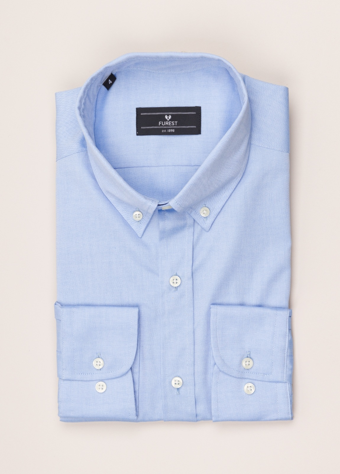 Camisa vestir FUREST COLECCIÓN REGULAR FIT cuello botón pin point celeste