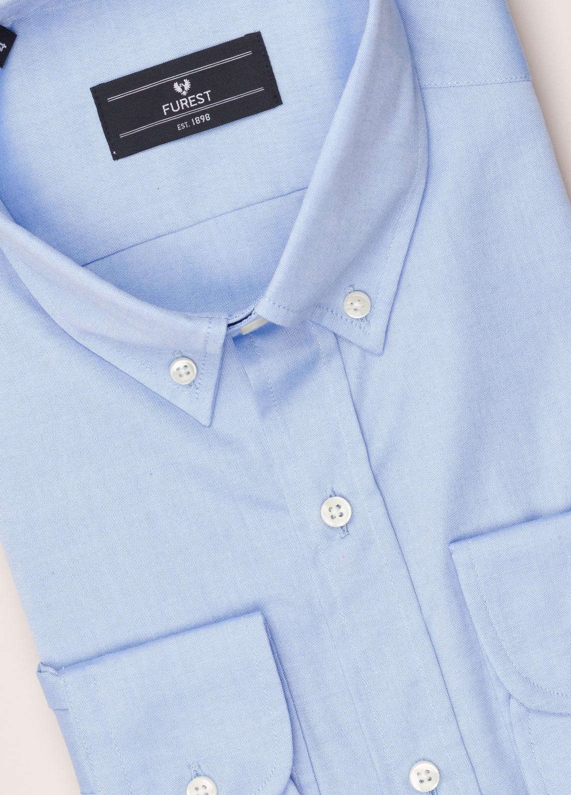 Camisa vestir FUREST COLECCIÓN REGULAR FIT cuello botón pin point celeste - Ítem2
