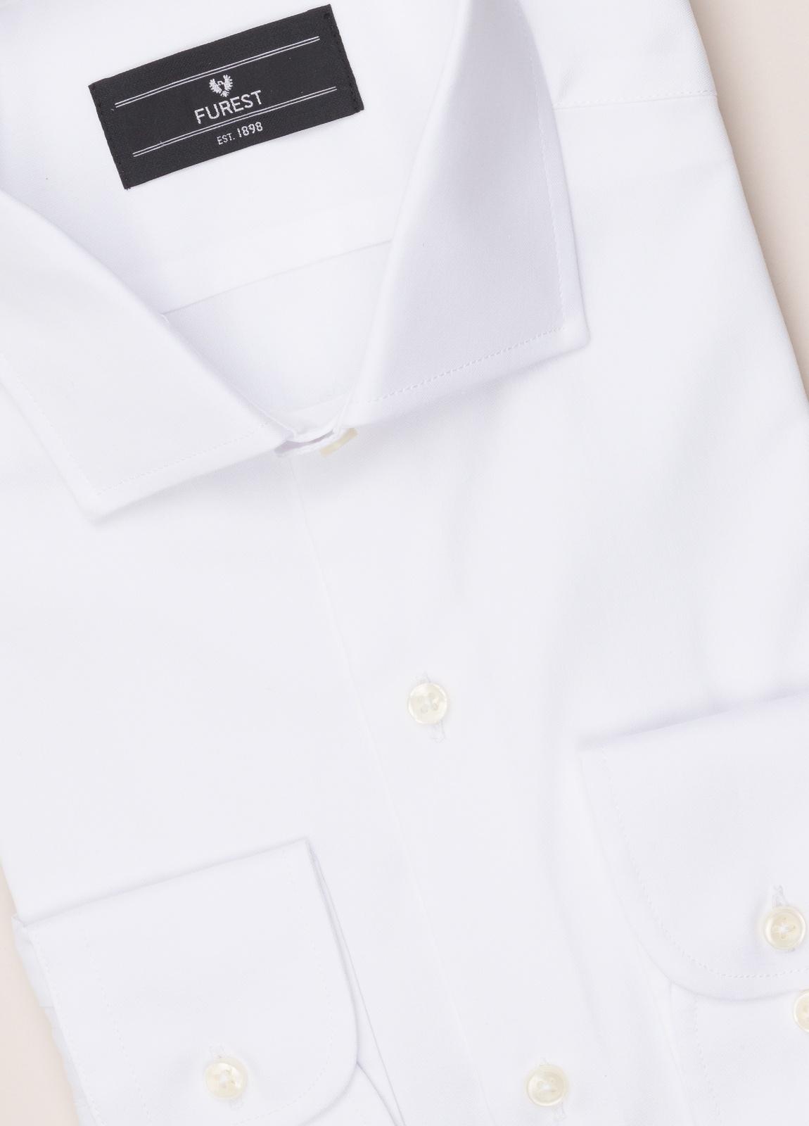 Camisa vestir FUREST COLECCIÓN REGULAR FIT cuello italiano Pin Point blanco - Ítem2