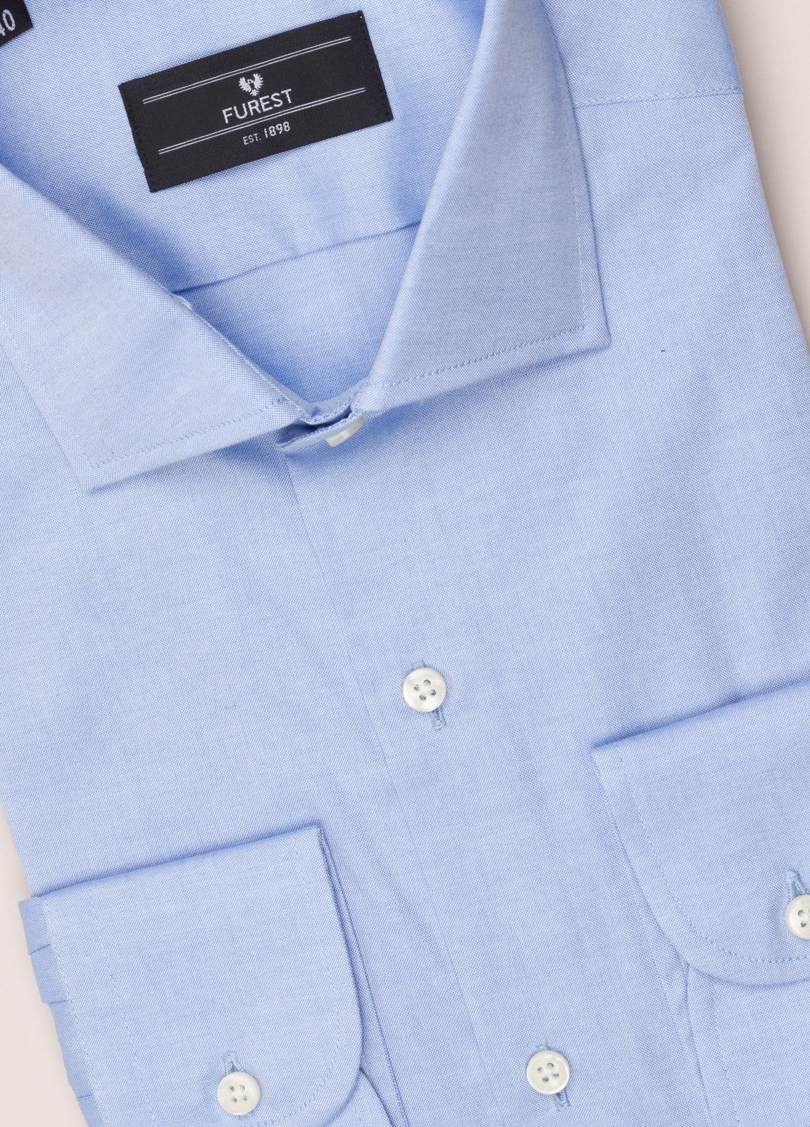 Camisa vestir FUREST COLECCIÓN REGULAR FIT cuello italiano Pin Point celeste - Ítem2