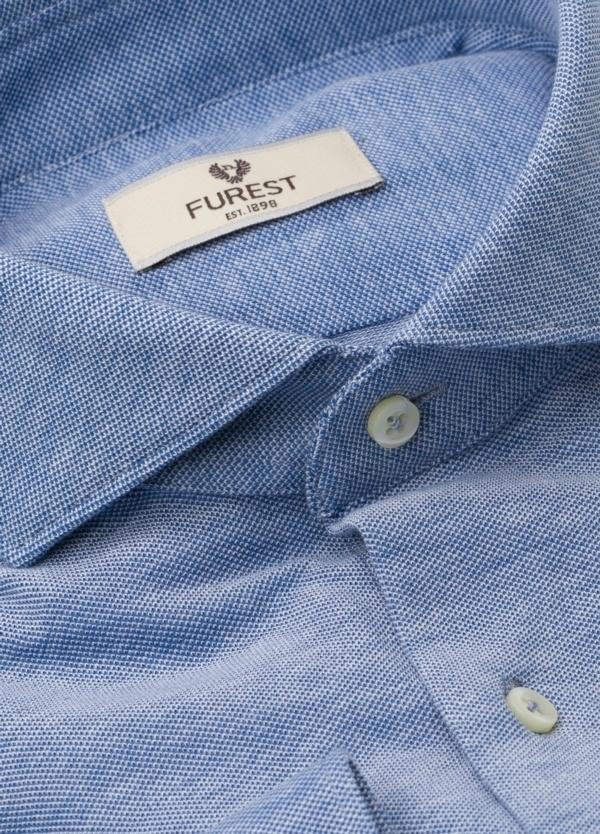 Camisa Leisure Wear SLIM FIT Modelo CAPRI tejido micro textura color azul celeste, 100% Algodón - Ítem2