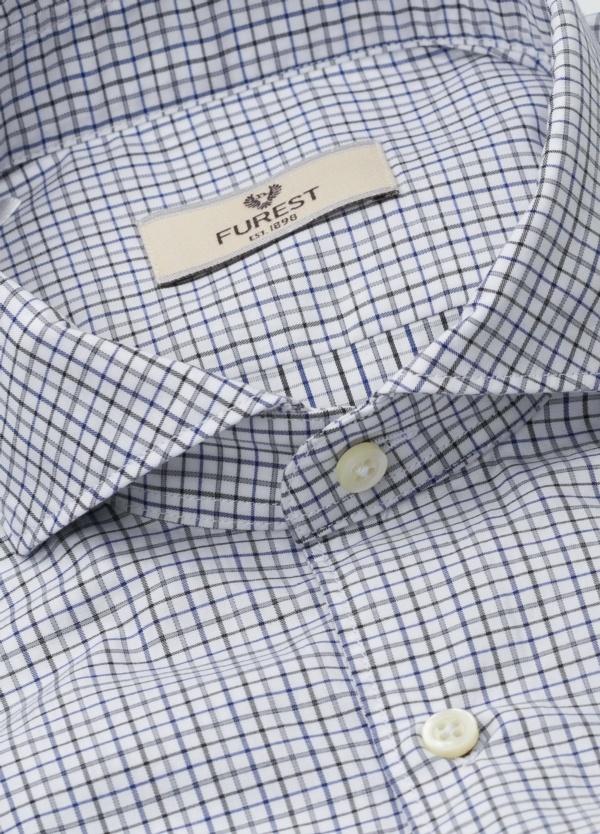 Camisa Leisure Wear SLIM FIT Modelo CAPRI, cuadros negro, azul, 100% Algodón. - Ítem1