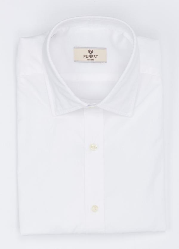 Camisa Leisure Wear SLIM FIT modelo PORTO, micro-textura color blanco . 100% Algodón.