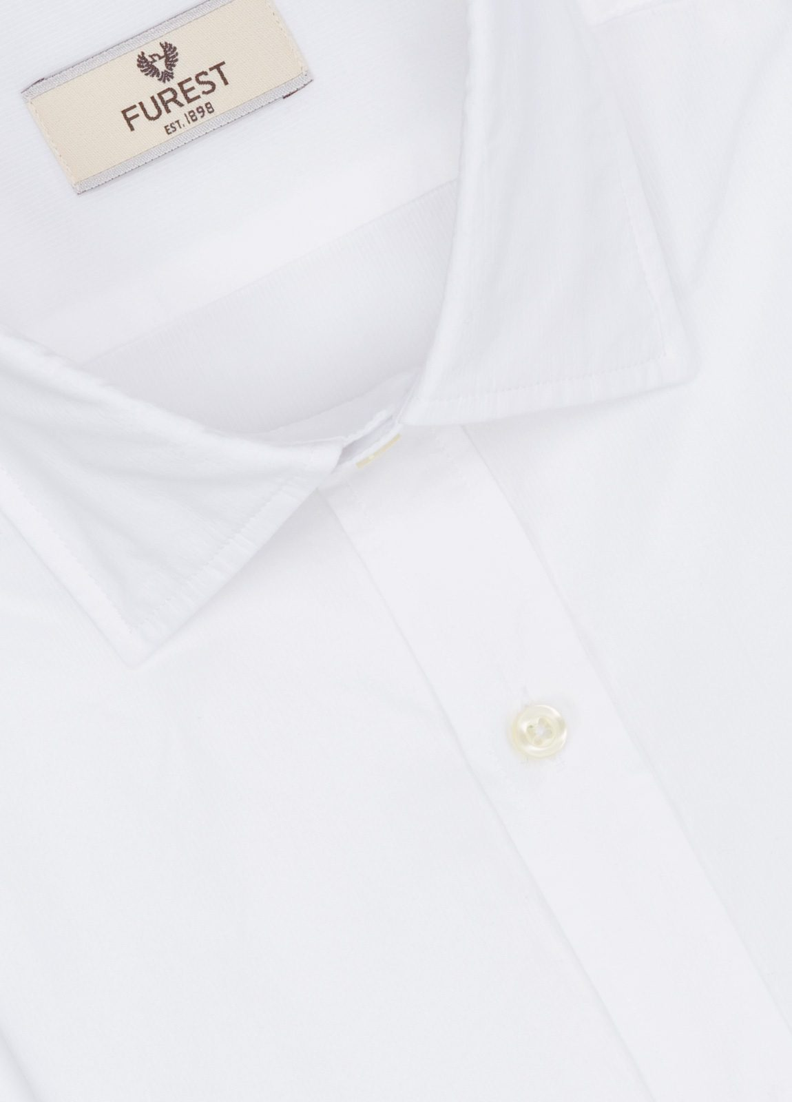 Camisa Leisure Wear SLIM FIT modelo PORTO, micro-textura color blanco . 100% Algodón. - Ítem1