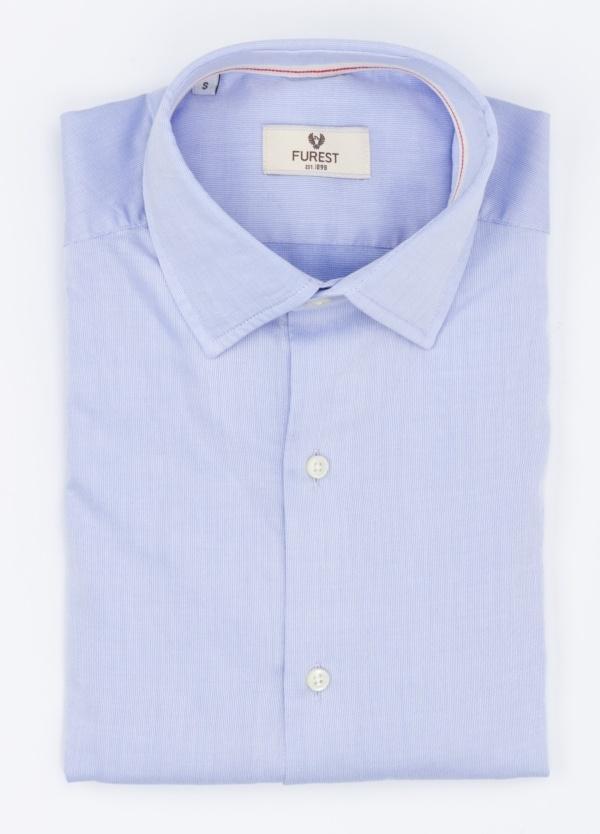 Camisa Leisure Wear SUPER SLIM modelo PORTO,color azul celeste. 100% Algodón.