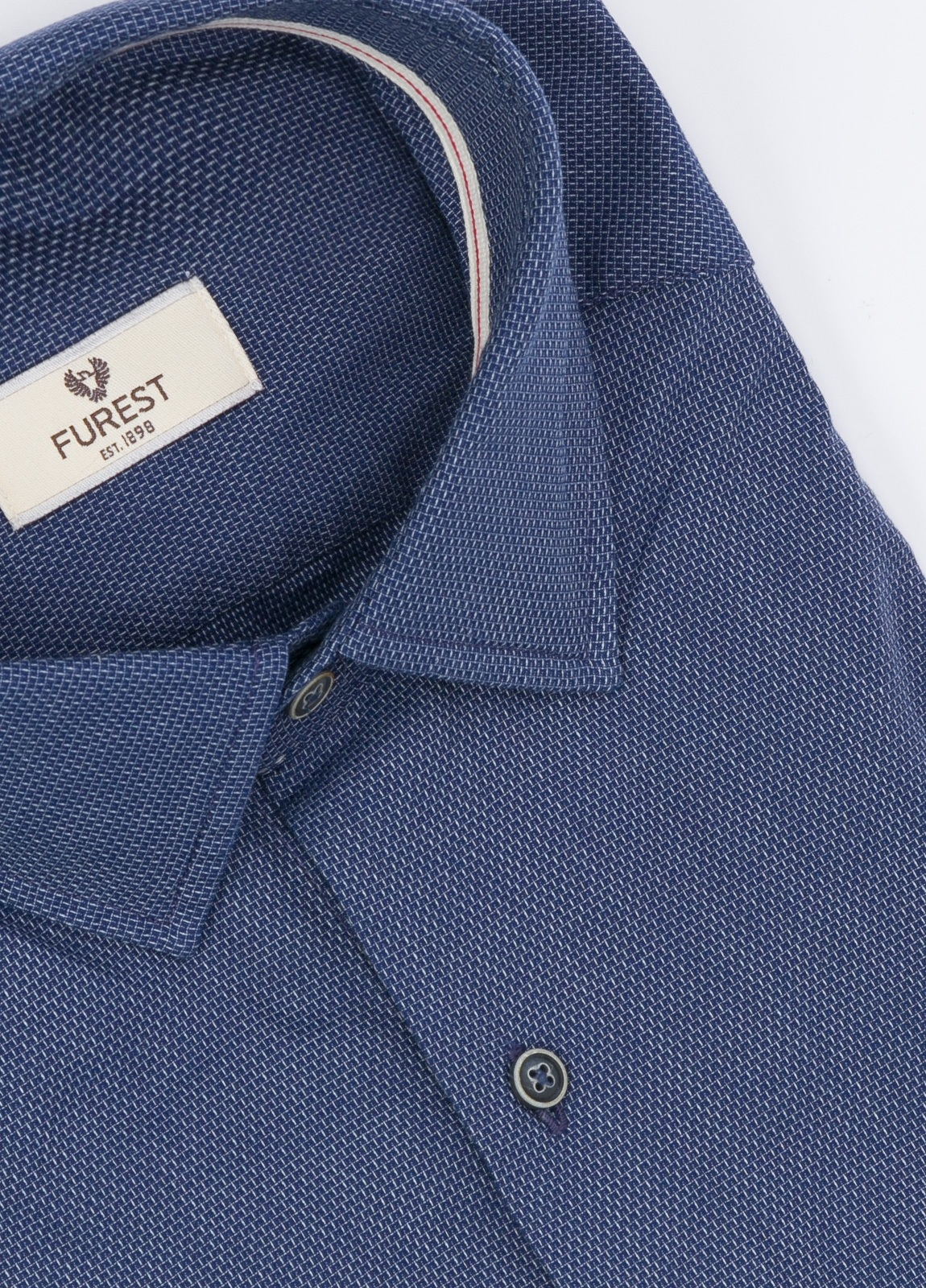Camisa Leisure Wear SLIM FIT modelo PORTO,color azul marino. 100% Algodón. - Ítem1
